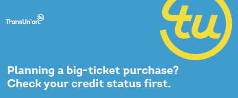 Planning a big-ticket purchase? Check your credit status first.