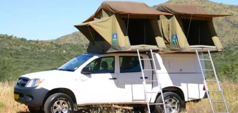 (English) Group X – 4×4 Toyota Double Cab 2 tents