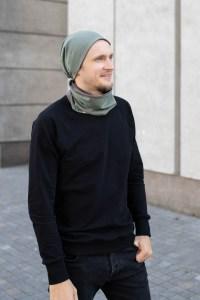 Pavasarinė kepurė 'Monstriukai' - Dvipusė Chaki-Ruda