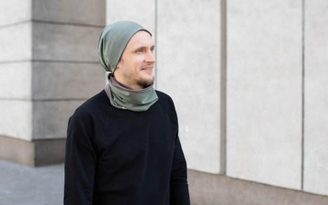 Neutrali rudeninė kepurė - Dvipusė Ckaki-Ruda