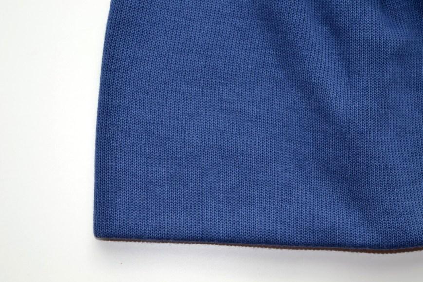 Mėlyna rudens kepurė berniukui - dviguba