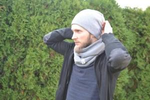 Pilka rudenio kepurė vyrui - dviguba
