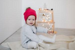 Stora šilta mergaitiška kepurė žiemai su bumbulu