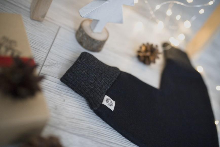 Meilės pirštinė – juoda - Kalėdinė dovana vyrui, žmonai