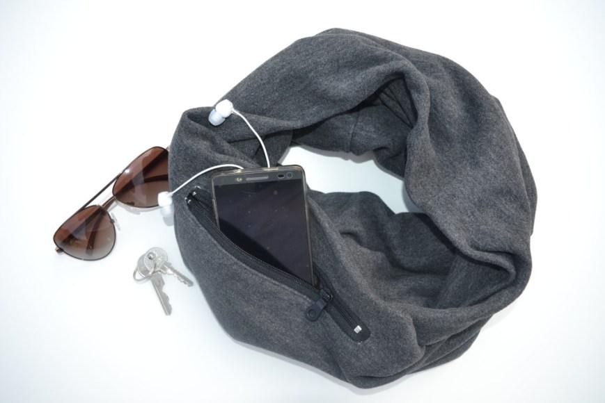 Vyriškas šalikas rudeniui su kišene