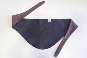 Vaikiška kaklaskarė - dvipusė - Pilka/Ruda
