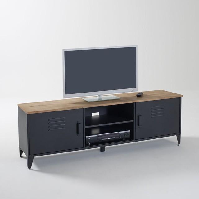 fitueyes meuble tv avec support pivotant cantilever pour televiseur de 32 pouce a 65 pouce ecran led lcd plasma avec 3 etageres pour ranger av equipement tt307001mb meubles meubles tv