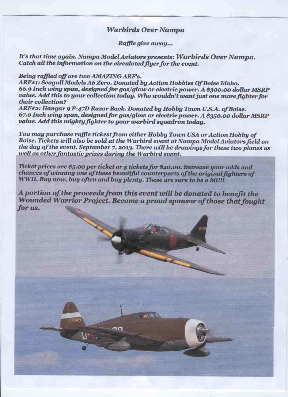 Warbirds over Nampa 2013 Raffle Image