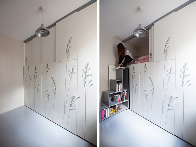 Kitoko-fills-tiny-8-sqm-parisian-apartment-with-hidden