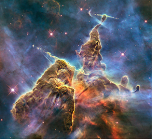 Carina Nebula courtesy of Hubble Space Telescope. (NASA) Hubble.org