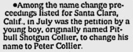 name change, pitbull to peter
