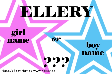 Ellery - girl name or boy name?