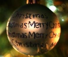 merry christmas bulb