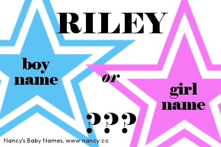 Riley - boy name or girl name?