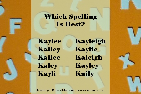 which spelling is best? kaylee...