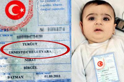 Turkish baby named Che Guevara