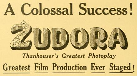 Zudora movie advertisement
