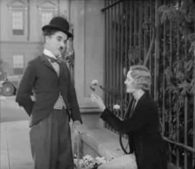 Charlie Chaplin and Virginia Cherrill in City Lights (1931)