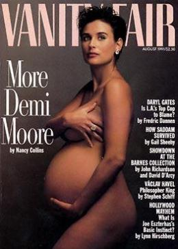 Demi, pre-Scout, on cover of Vanity Fair, August 1991