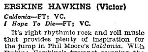 rock and roll music, caldonia, review, erskine hawkins