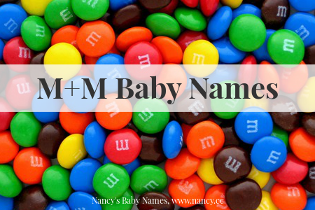 M&M'S baby names, candy baby names