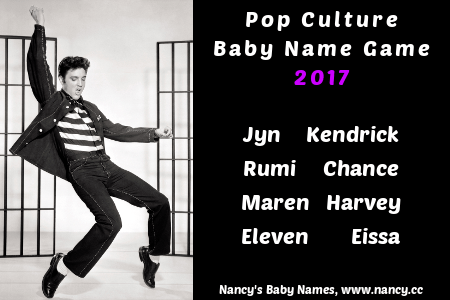 pop culture baby name game 2017