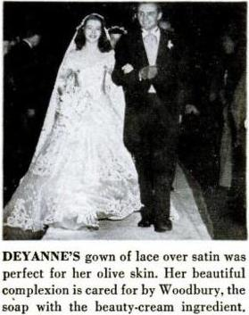 deyanne, wedding, 1950