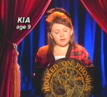 hooked on phonics, kia, 1993