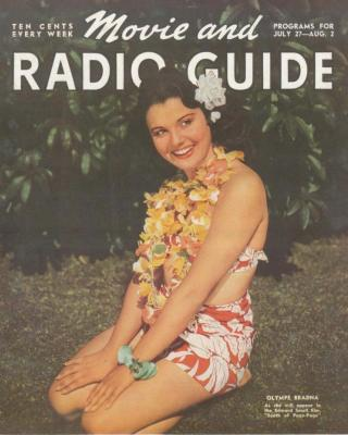 olympe bradna, radio and movie guide