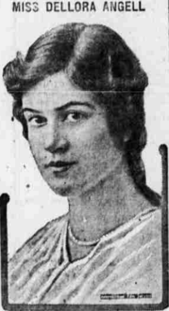 Miss Dellora Angell, newspaper photo, February 1919