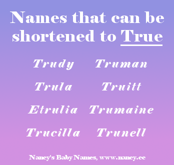 names with the nickname True