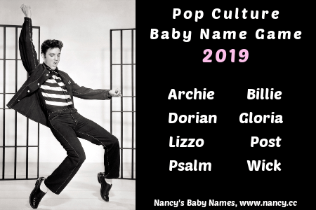 pop culture baby name game, 2019
