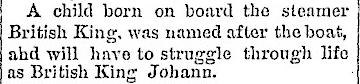 British King Johann