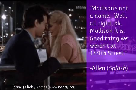 splash, movie, quote, quotation, madison, 1980s