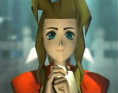 """The character Aeris from the video game """"Final Fantasy VII"""" (1997)."""