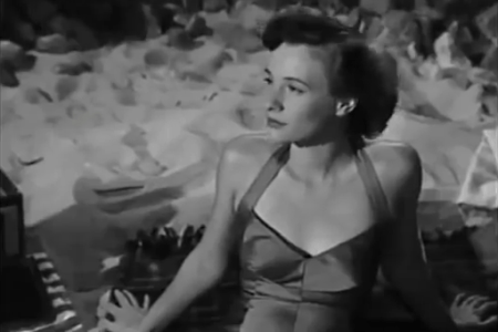 """The character Sherida (Phyllis Thaxter) in the 1948 movie """"The Sign of the Ram."""""""