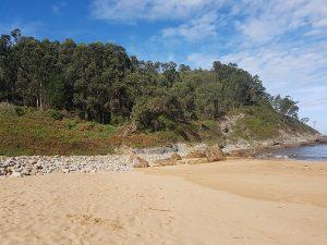 Playa Meron sandy beach in Asturias, Spain