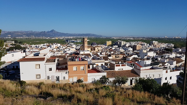 A view across Oliva old town