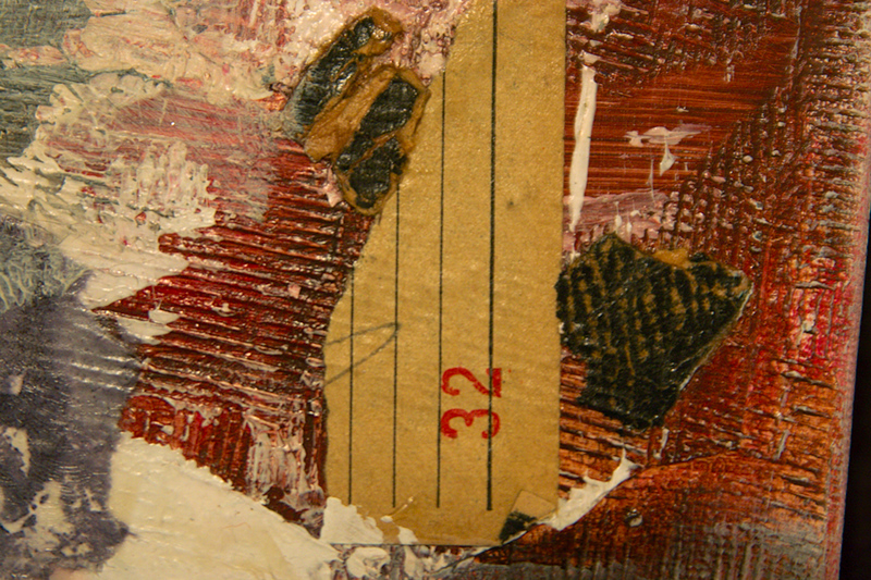 detail of mixed media collage
