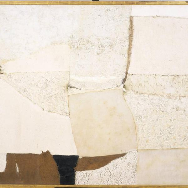 Alberto Burri Composition in White 1955