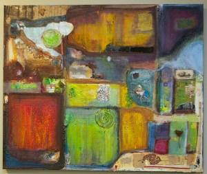 Landscape of my memory by Nancy Hildebrand; in progress