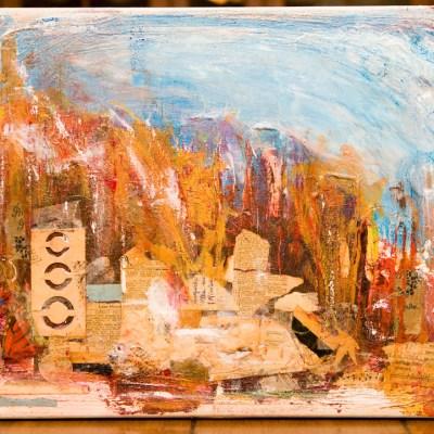 mixed media, 16x20 on canvas