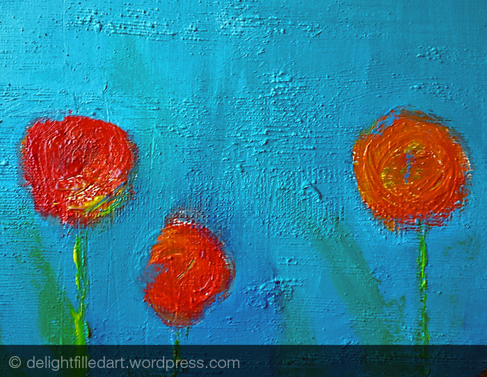 flowers painting detail