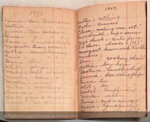 1906-1907 Christmas list
