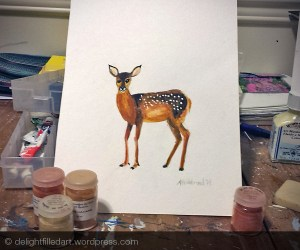 fawn painting