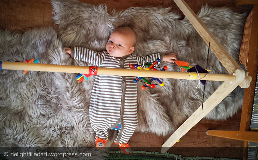 homemade baby gym