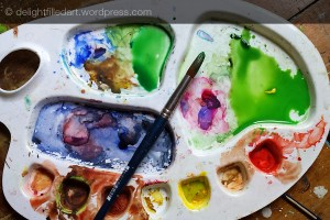 watercolour pallette