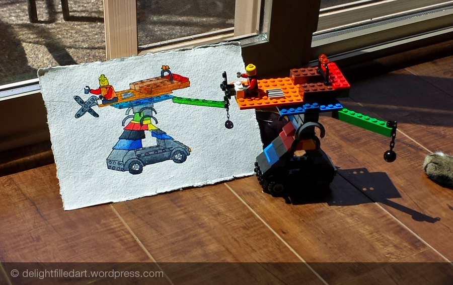 Painting my son's LEGO inventions