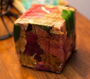 wrapped cube art