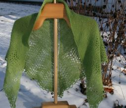 handspun and handknit lace cashmere shawl